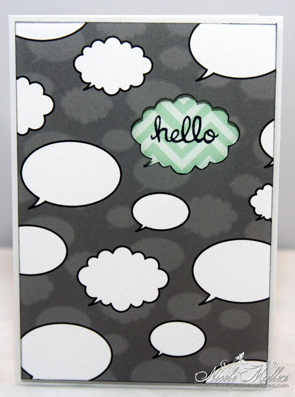 negative space hello card