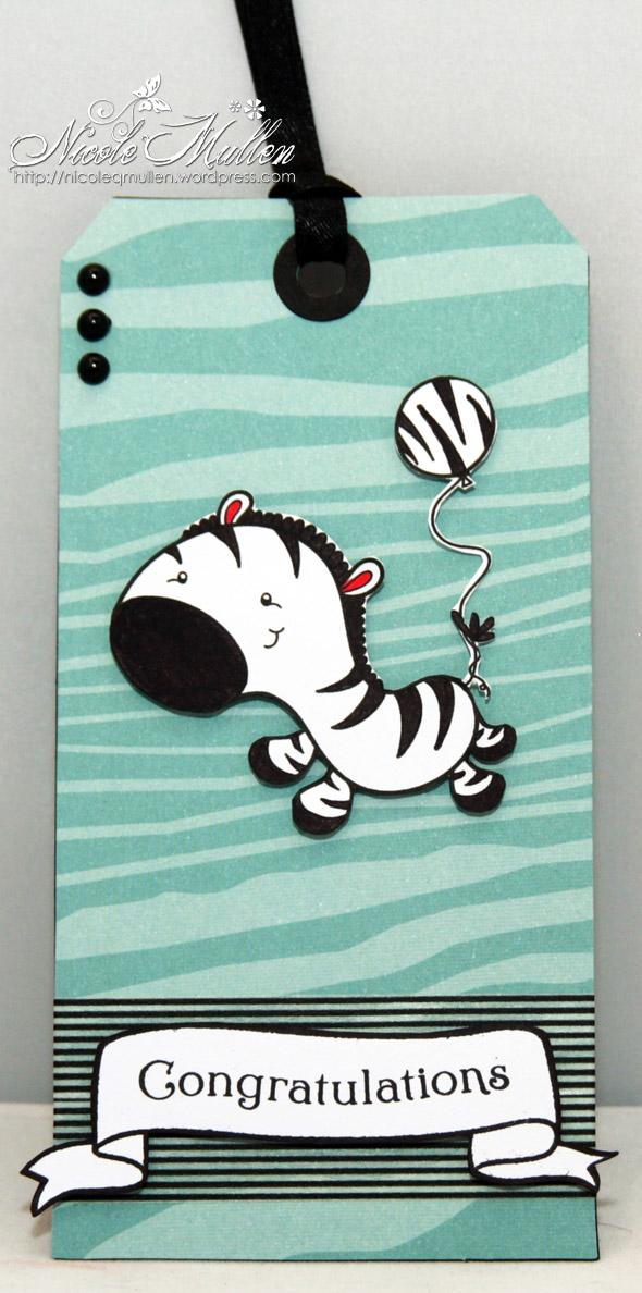 zebra tag small