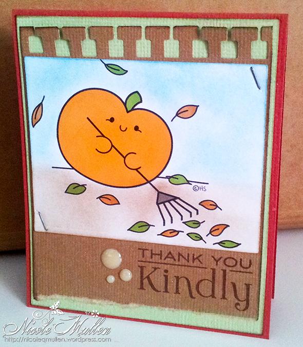 pumpkin leaves card