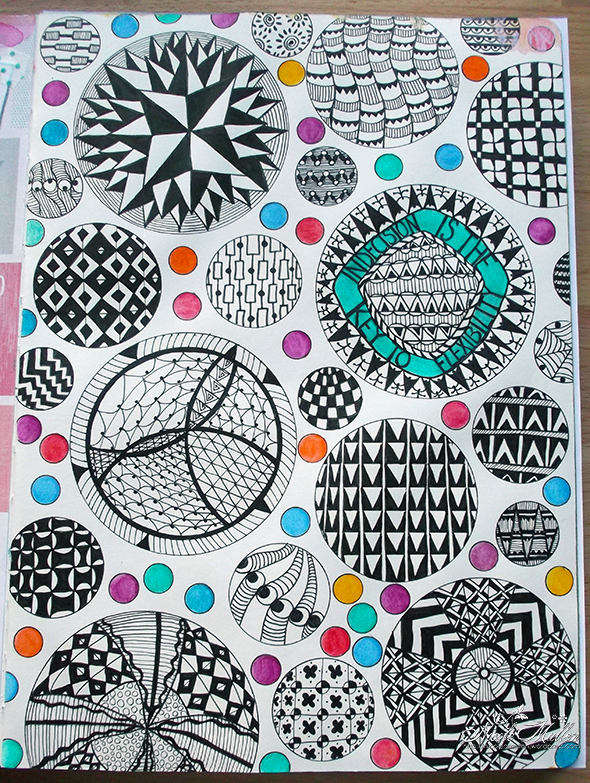 zentangle page