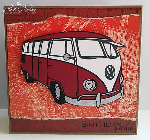 vw bus card small