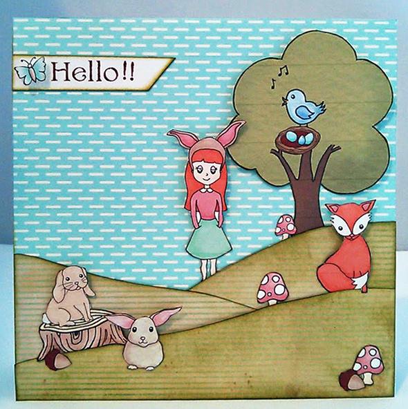 woodlands card front