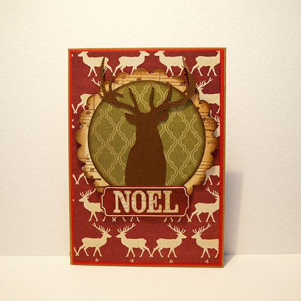 reindeer plain happy holidays