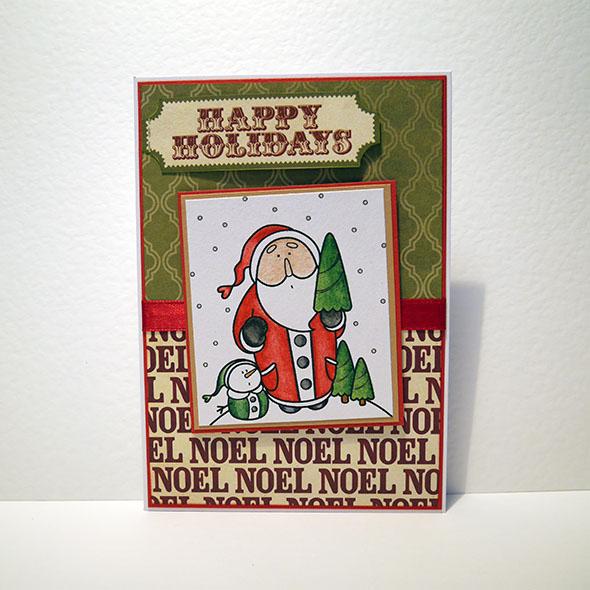snowman santa happy holidays