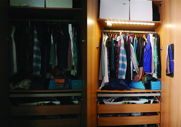 wardrobe before and after