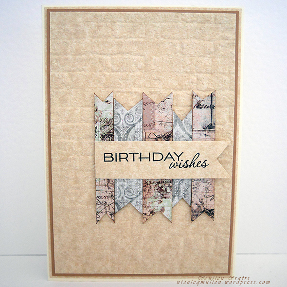 parchment birthday card